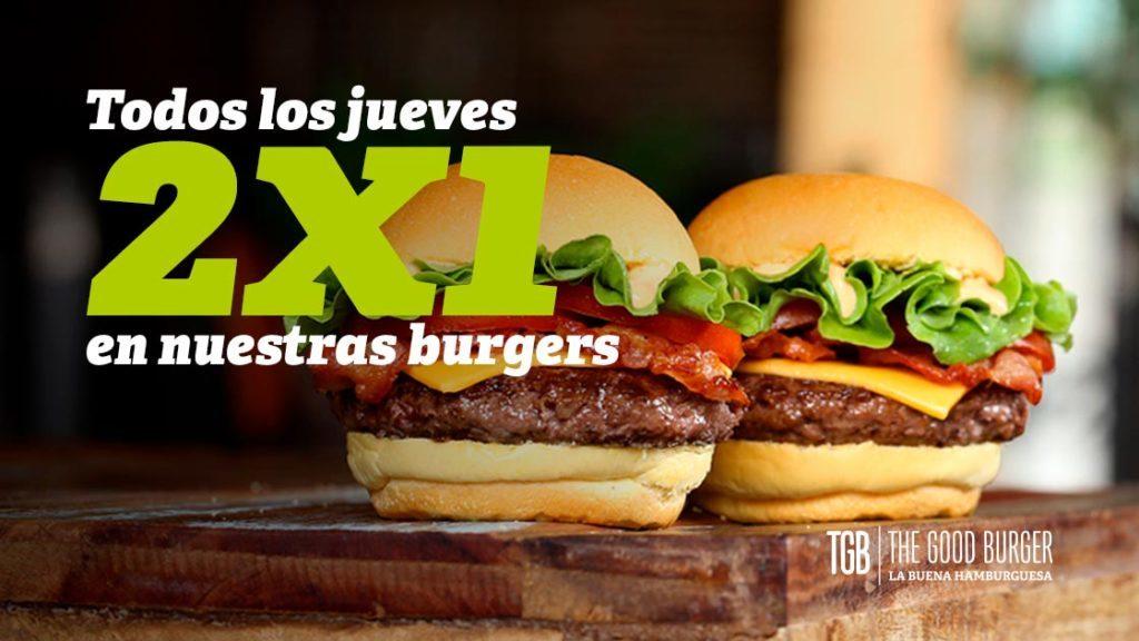 TGB – Todos los jueves, 2×1 en hamburguesas