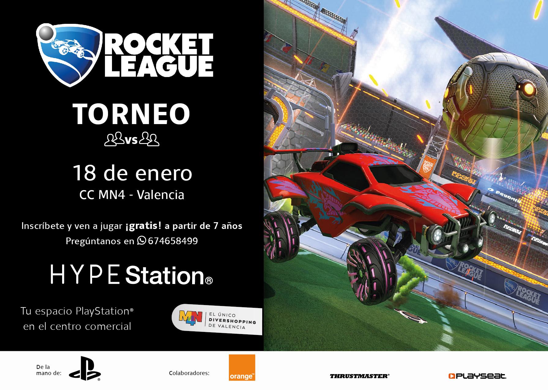 Torneo Rocket League en el espacio HYPE Station