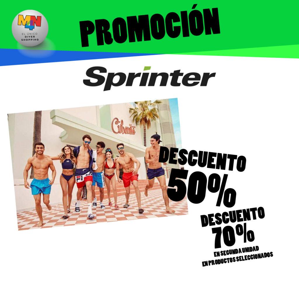 SPRINTER – Hasta un 50% + 2ª unidad al -70% en productos seleccionados