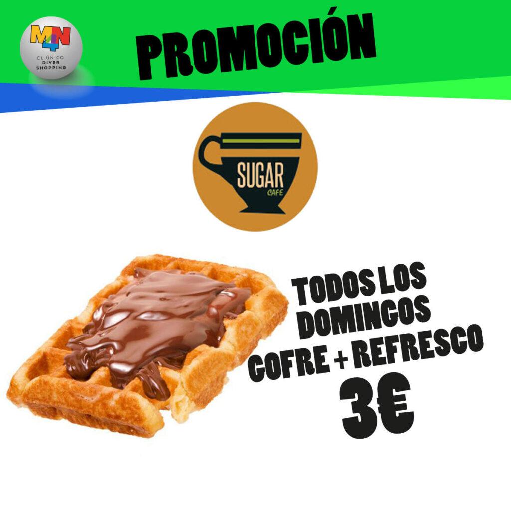 SUGAR CAFÉ – TODOS LOS DOMINGOS GOFRE Y REFRESCO POR 3€