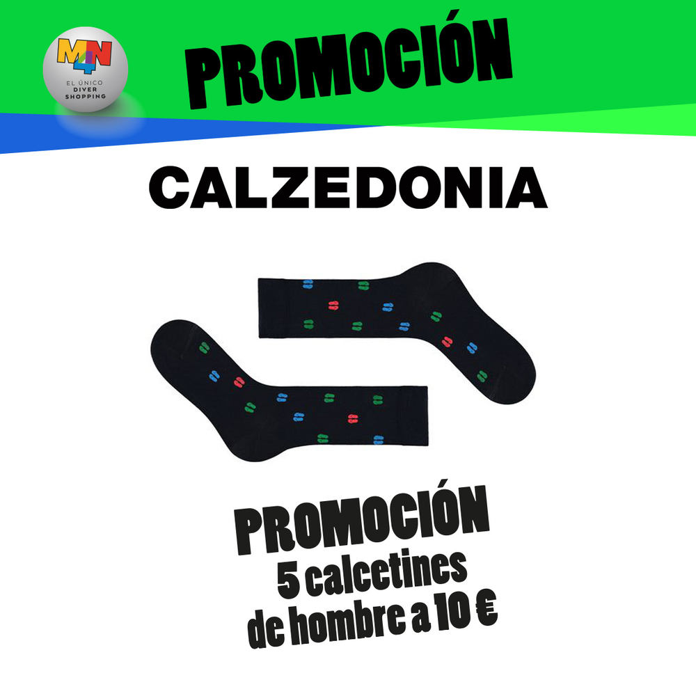 CALZEDONIA – Promoción de 5 calcetines de hombre a 10 €