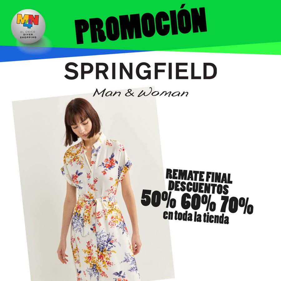 SPRINGFIELD – Remate final – Descuentos del 50%, 60% y 70% en toda la tienda